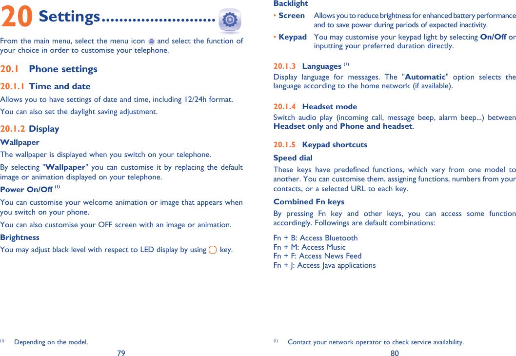 Alcatel 838 Instruction Manual IP4250_838_UM_Eng_GB_08_120612