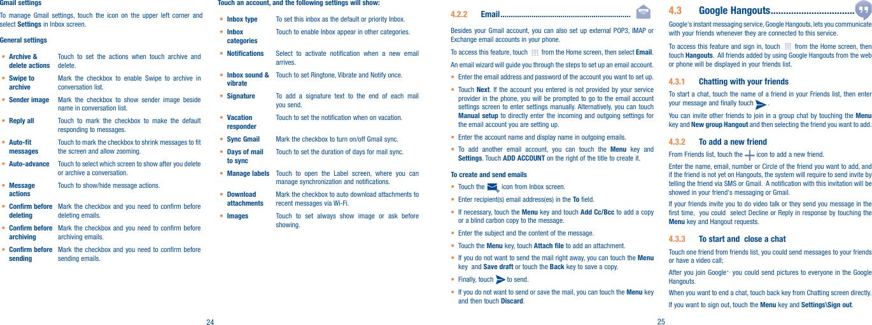 Alcatel A520L Users Manual