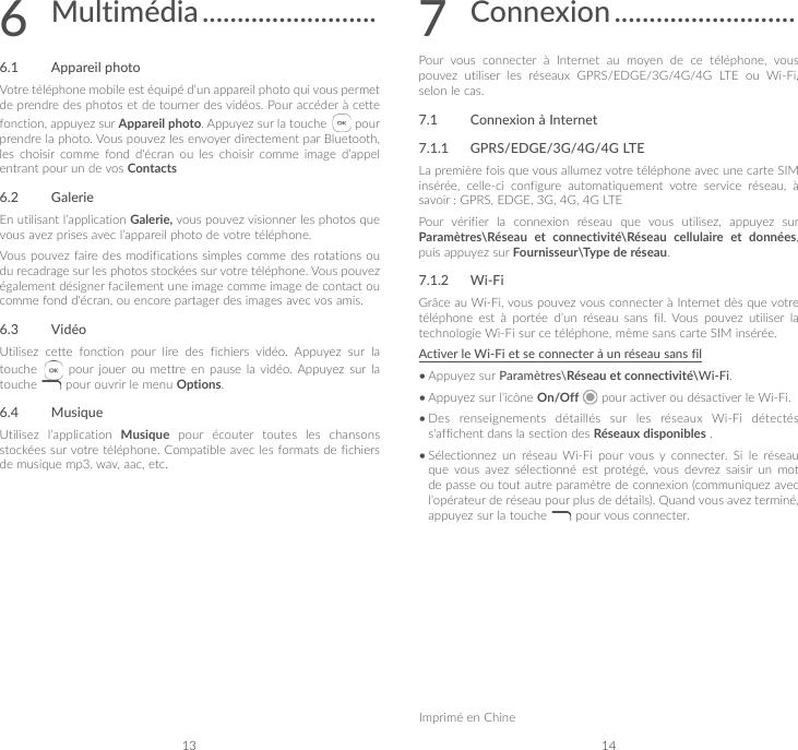 Alcatel Go flip 2 quick start guide for Bell french