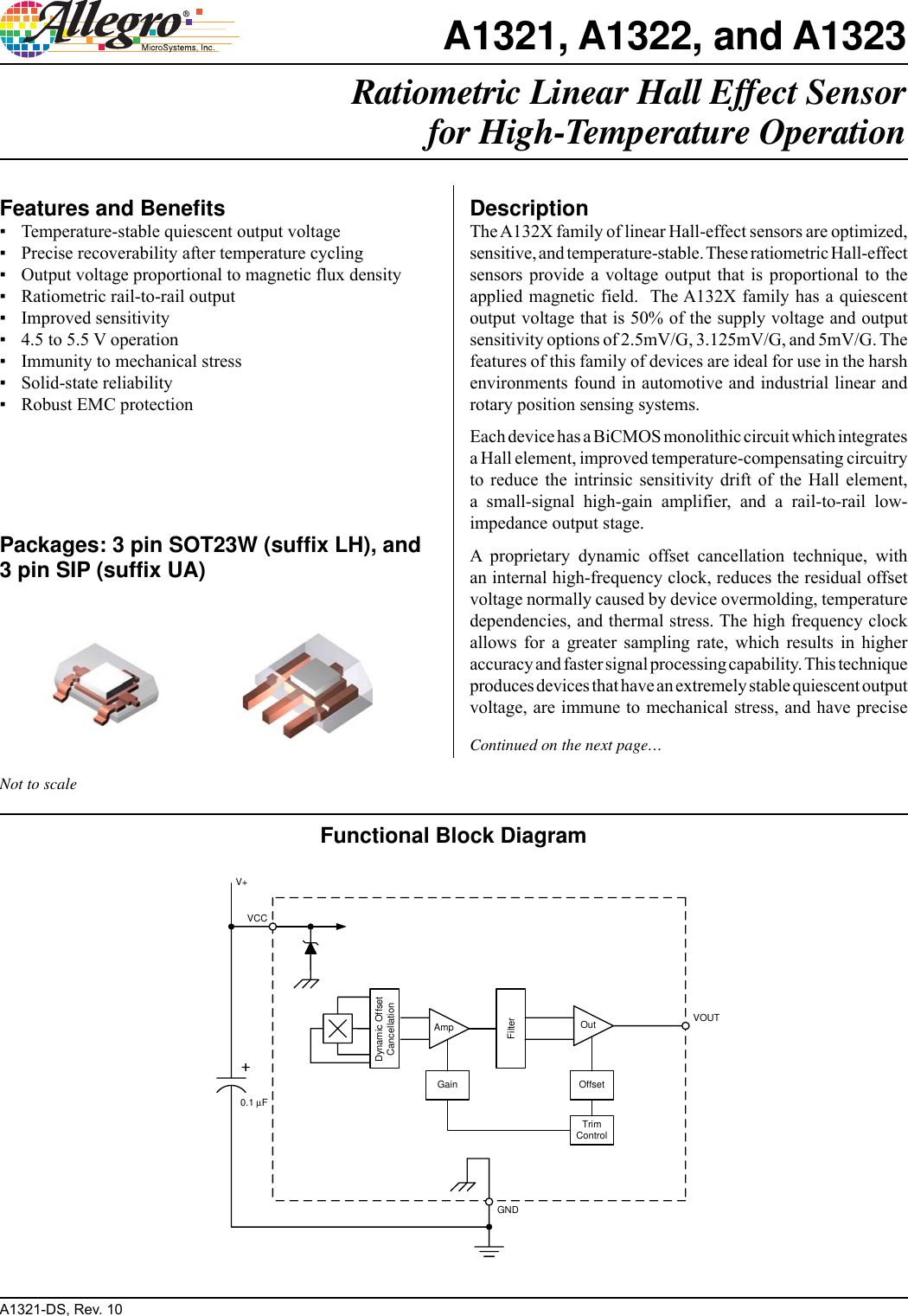 Allegro Multimedia A1321 Users Manual 22 23 We Used The Ua Package Hall Effect Sensor For More Information