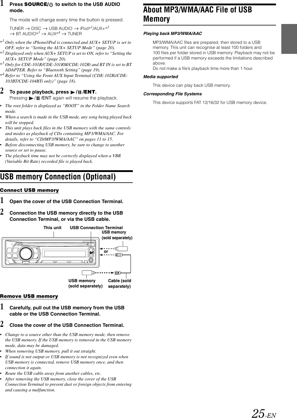 Alpine Cde 104Bti Users Manual 104BTi/CDE 103BT/CDE 102Ri/CDE 101R