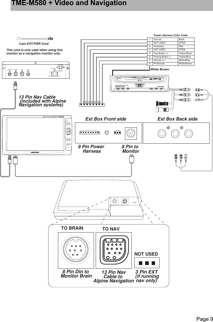 M580 8 Din Wiring Diagram Free Download Alpine Navigation Tme Users Manual Om 3 11 02 Basic Electrical Diagrams At