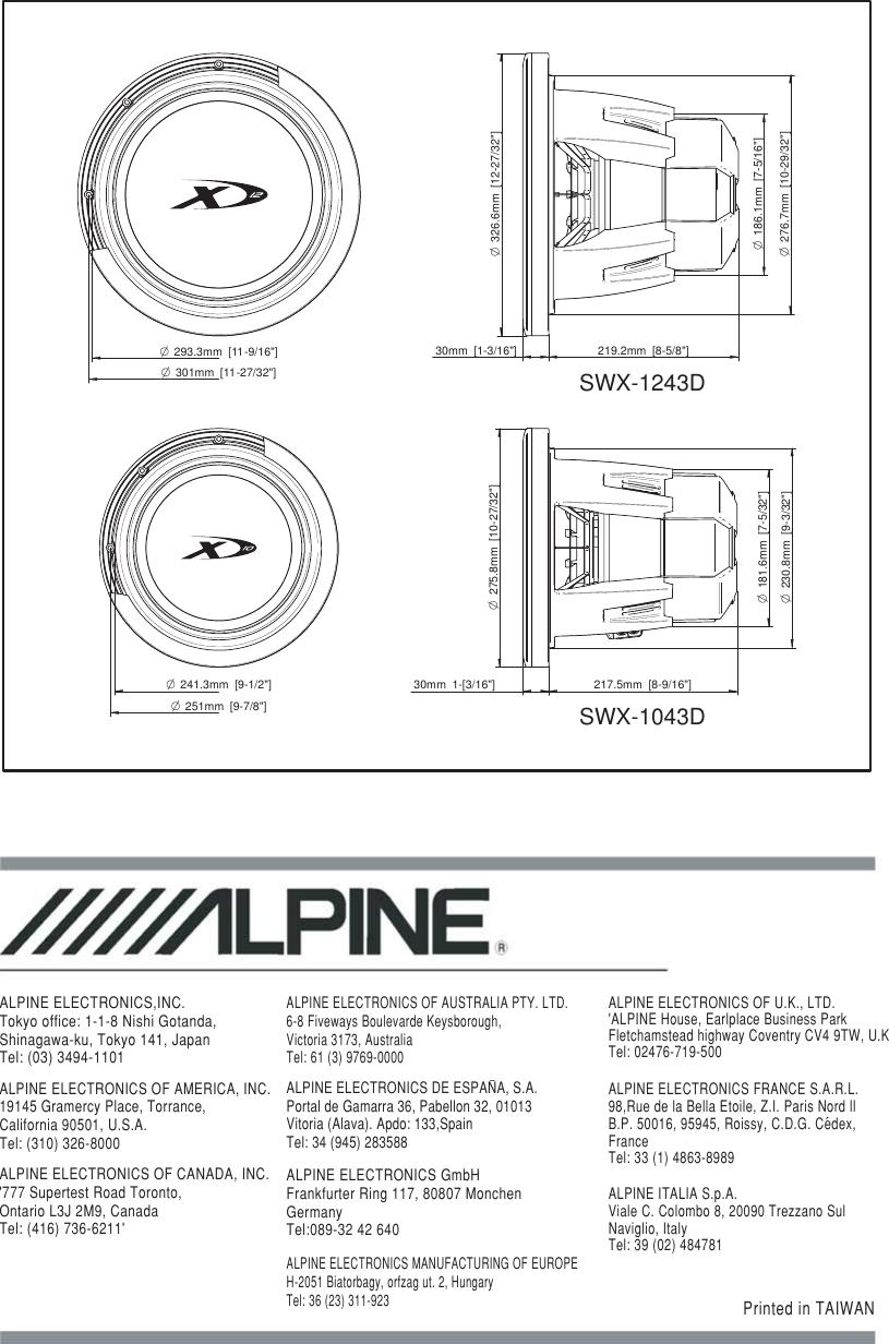 [FPWZ_2684]  Alpine Type X Swx 1043D Users Manual TX 07 03 08分頁   Alpine Type X Wiring Diagram      UserManual.wiki