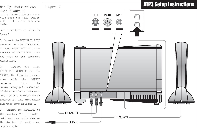 Altec Lansing Speaker Atp3 Users Manual Computer System Installation
