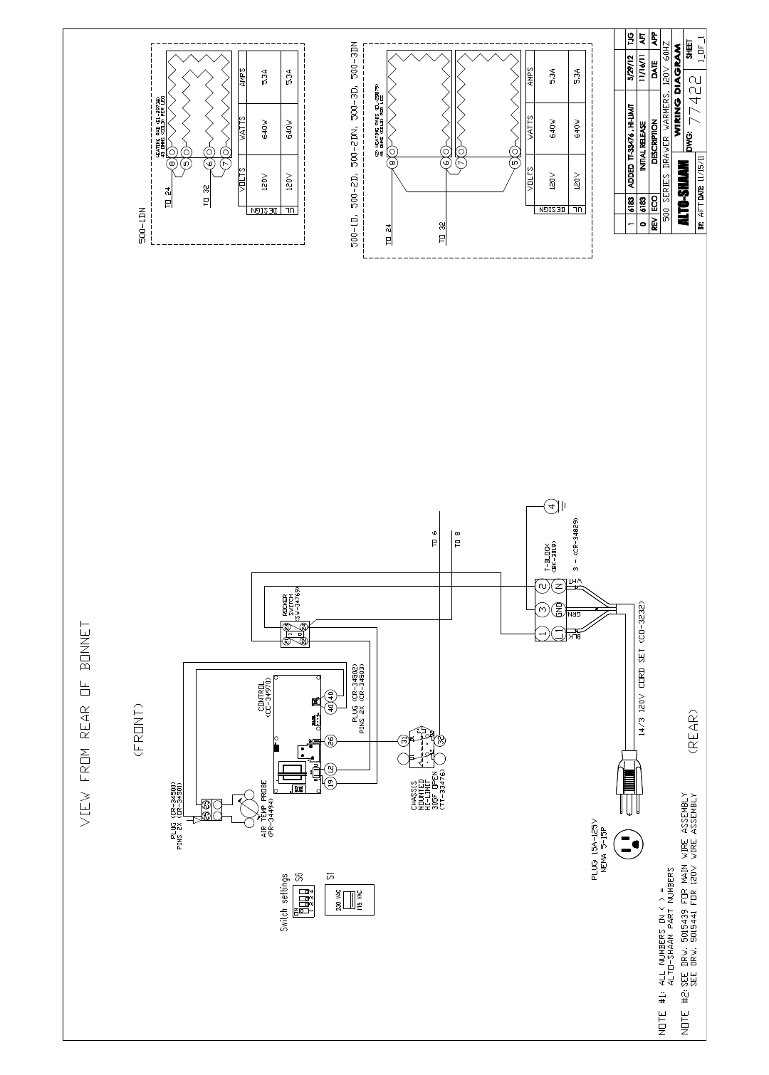 Alto Shaam 1dn Users Manual Lb75 Wiring Diagram 1 04 13 Drawer Warmer Installation Operation Service 22