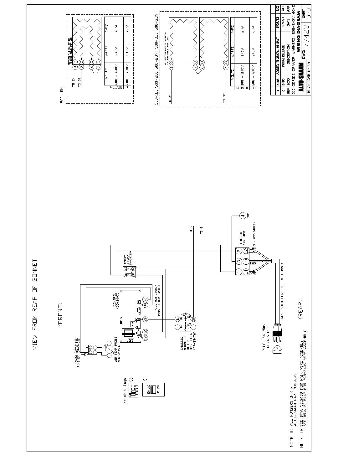 [SCHEMATICS_49CH]  Alto Shaam 1Dn Users Manual | Alto Shaam Wiring Diagram |  | UserManual.wiki