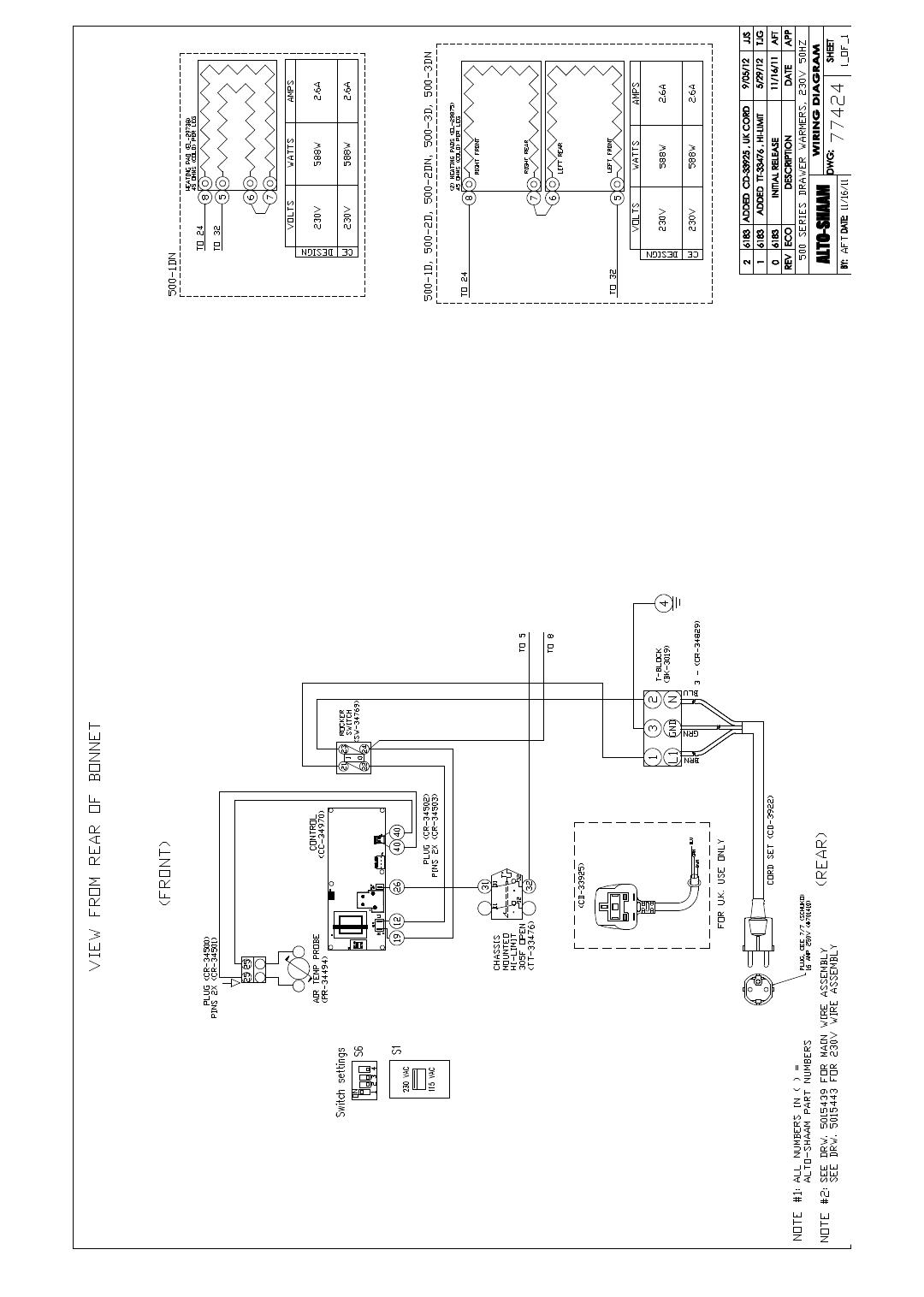 Alto Shaam 1dn Users Manual Lb75 Wiring Diagram 1 04 13 Drawer Warmer Installation Operation Service 24