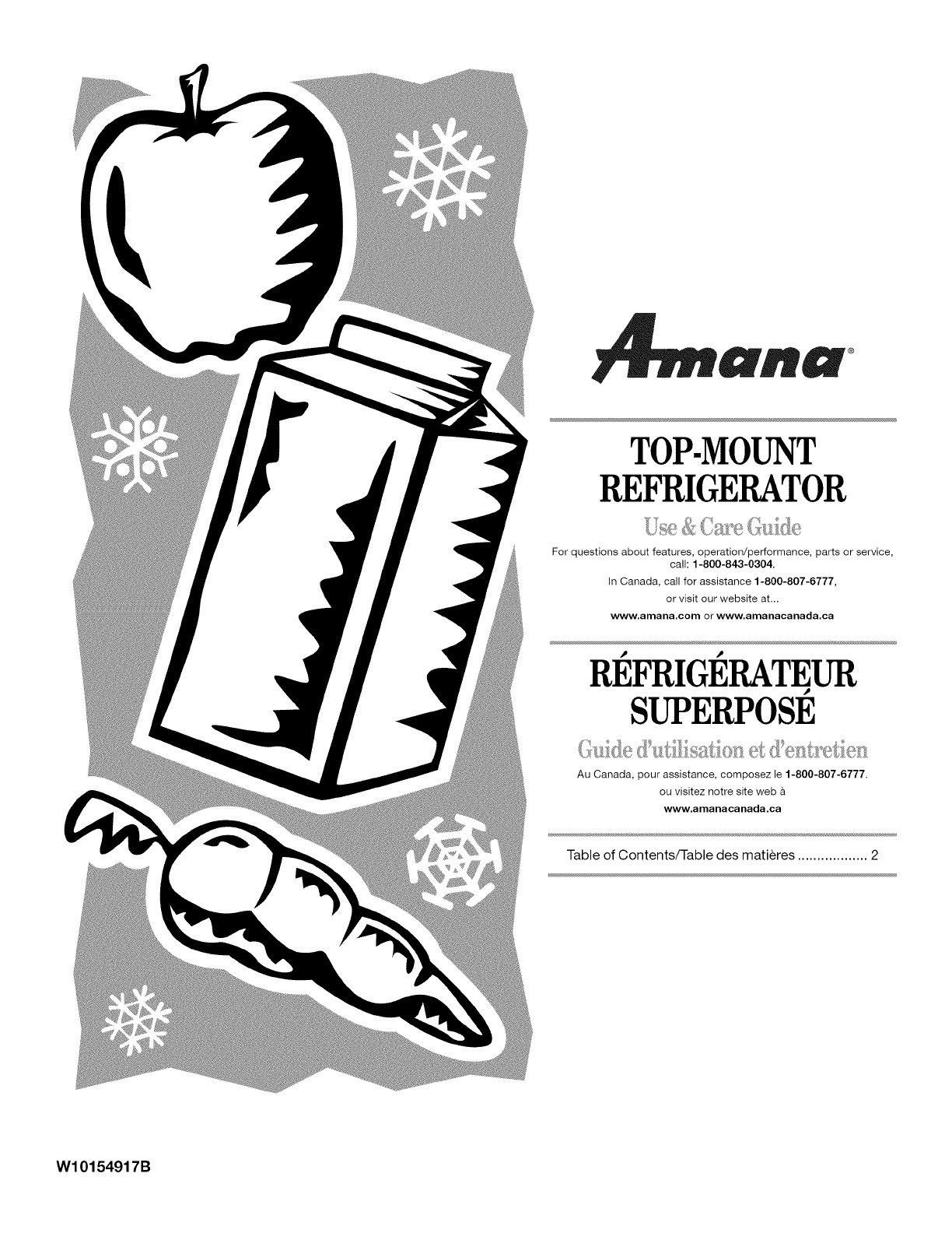 Amana réfrigérateur d'eau de raccordement