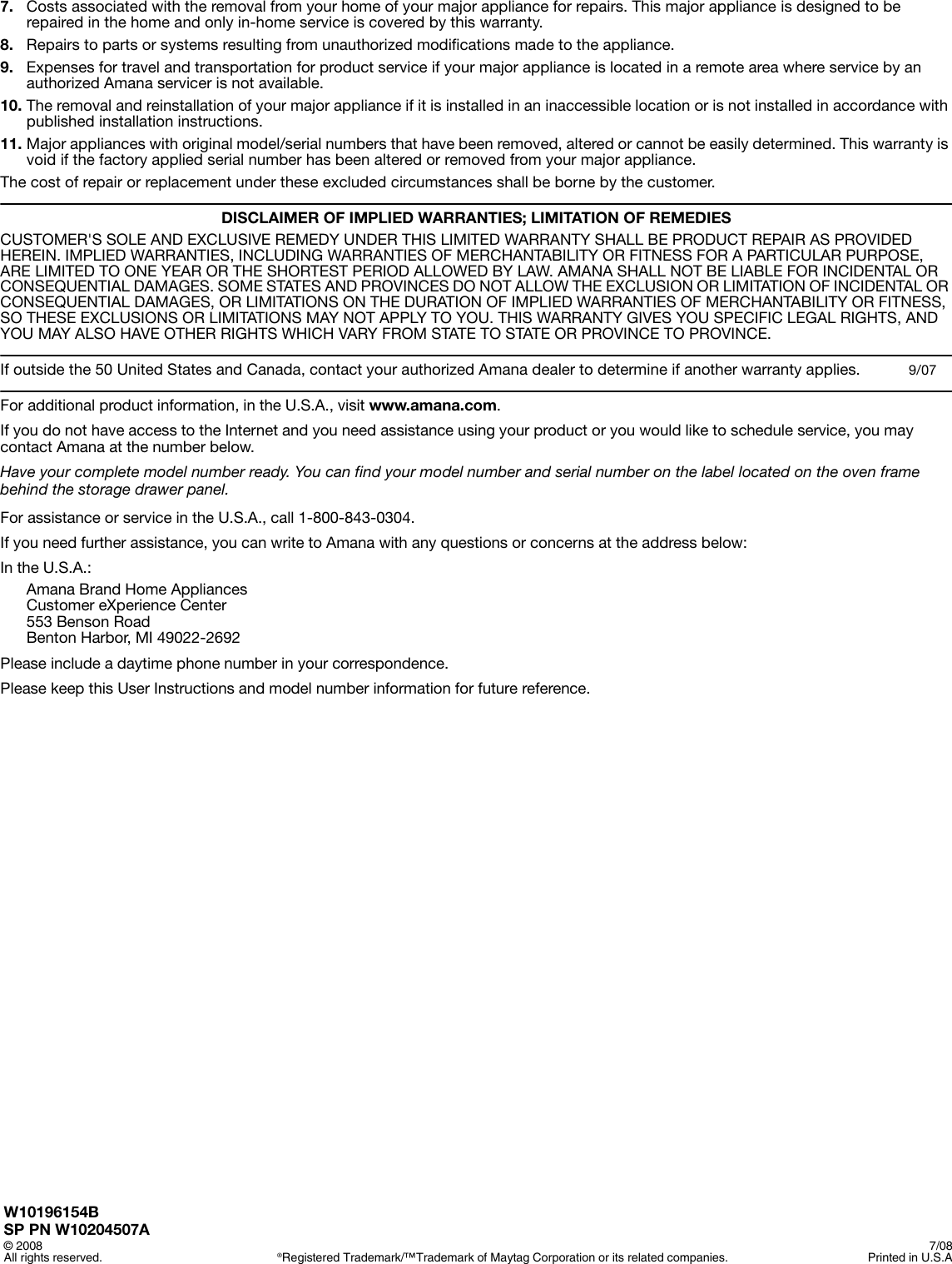 page 12 of 12 - amana agr5844vdw user manual to the 53254204-a857-4e8d