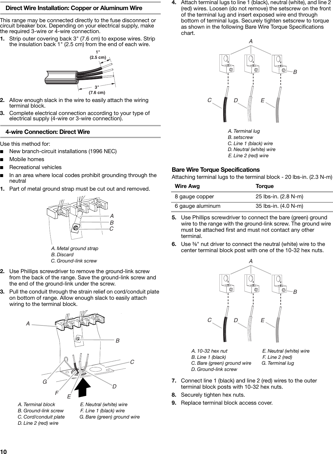 Amana Aep222vaw Installation Instructions Wiring Nuts Page 10 Of 12