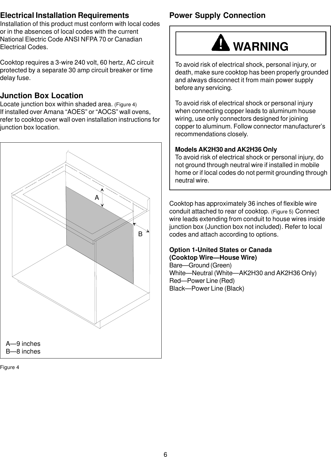 Amana Ak2h30 Users Manual 31916801 Requirements For Wiring A House Page 6 Of 12