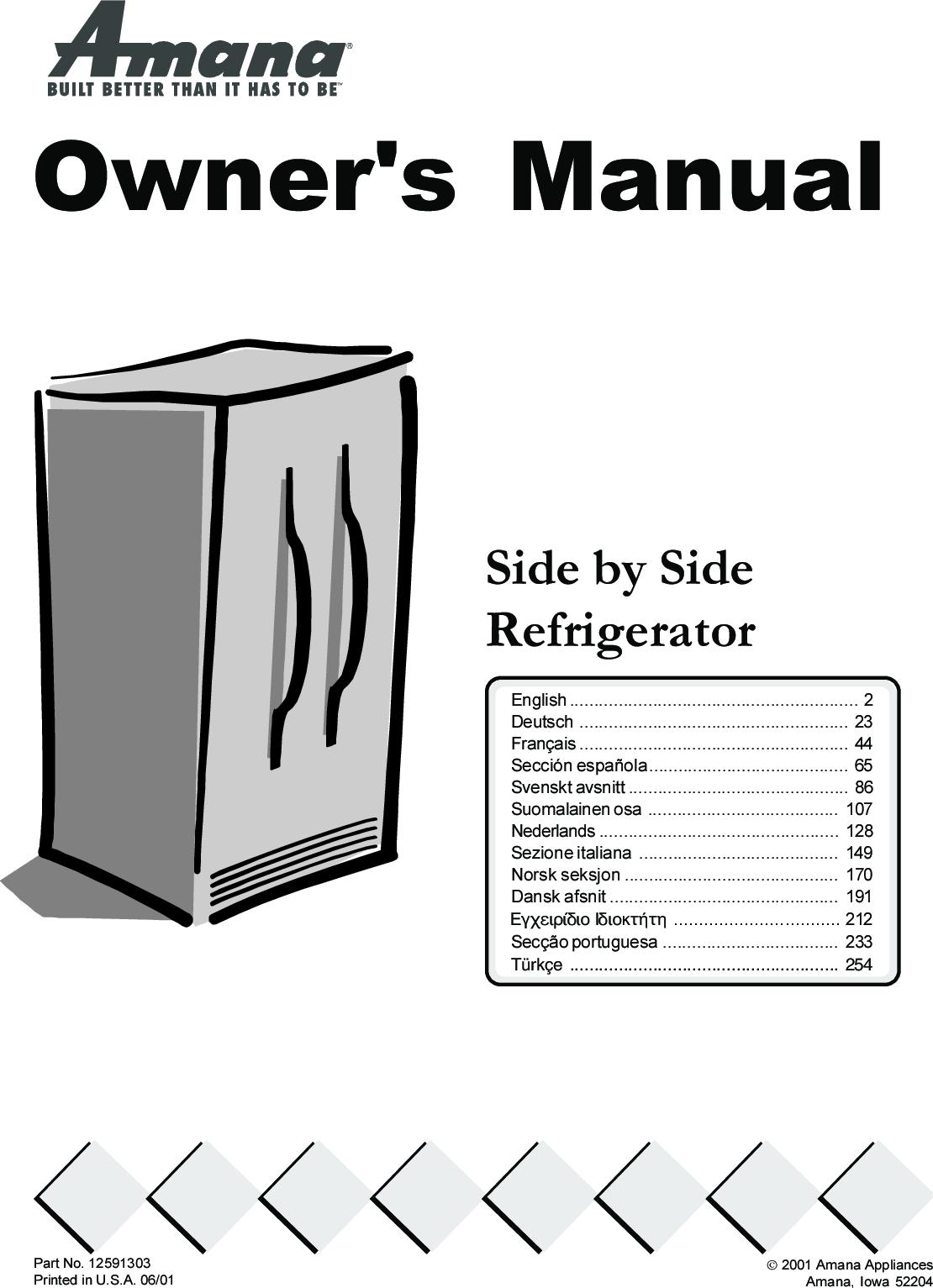5eb48a41978 Amana XRSS287BB 303eng.p65 User Manual To The 999b9d11 40bd 4e2c ac42  723148028875