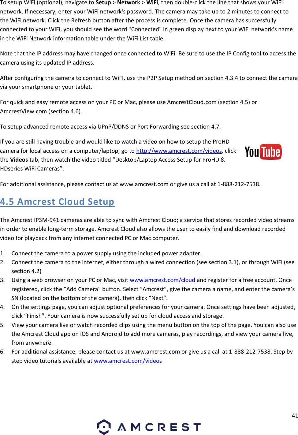 Amcrest Technologies AMC017 2K Dual Band Pan/Tilt Wireless