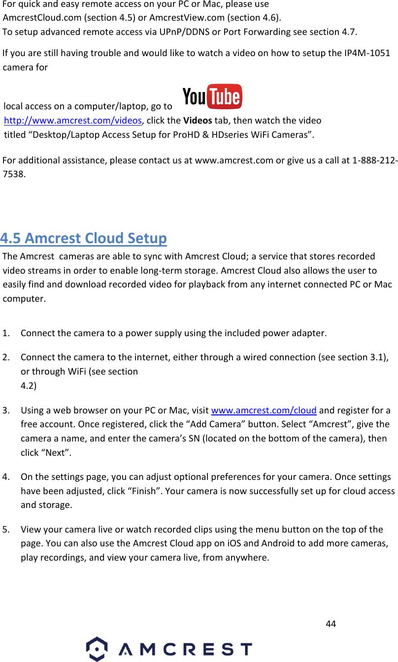 Amcrest Technologies AMC047 4MP Dual Band Pan/Tilt Wireless