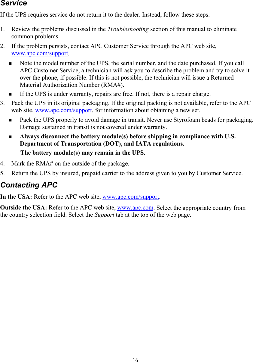 American Power Conversion 7500 10000 Va Users Manual 990