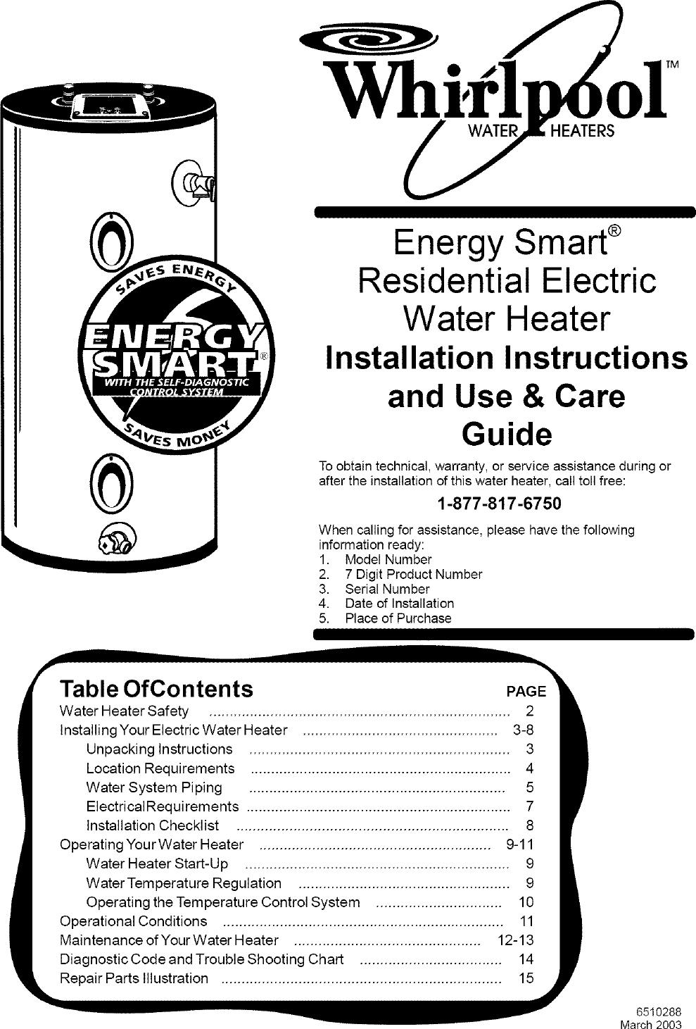 Water Heaters Manual Guide