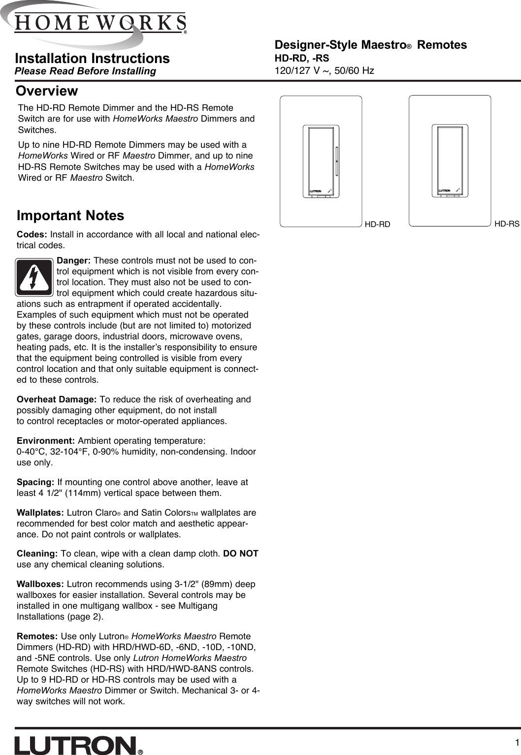 Amx Hd Rd Users Manual 043 134a Lutron Homeworks Wiring Diagram
