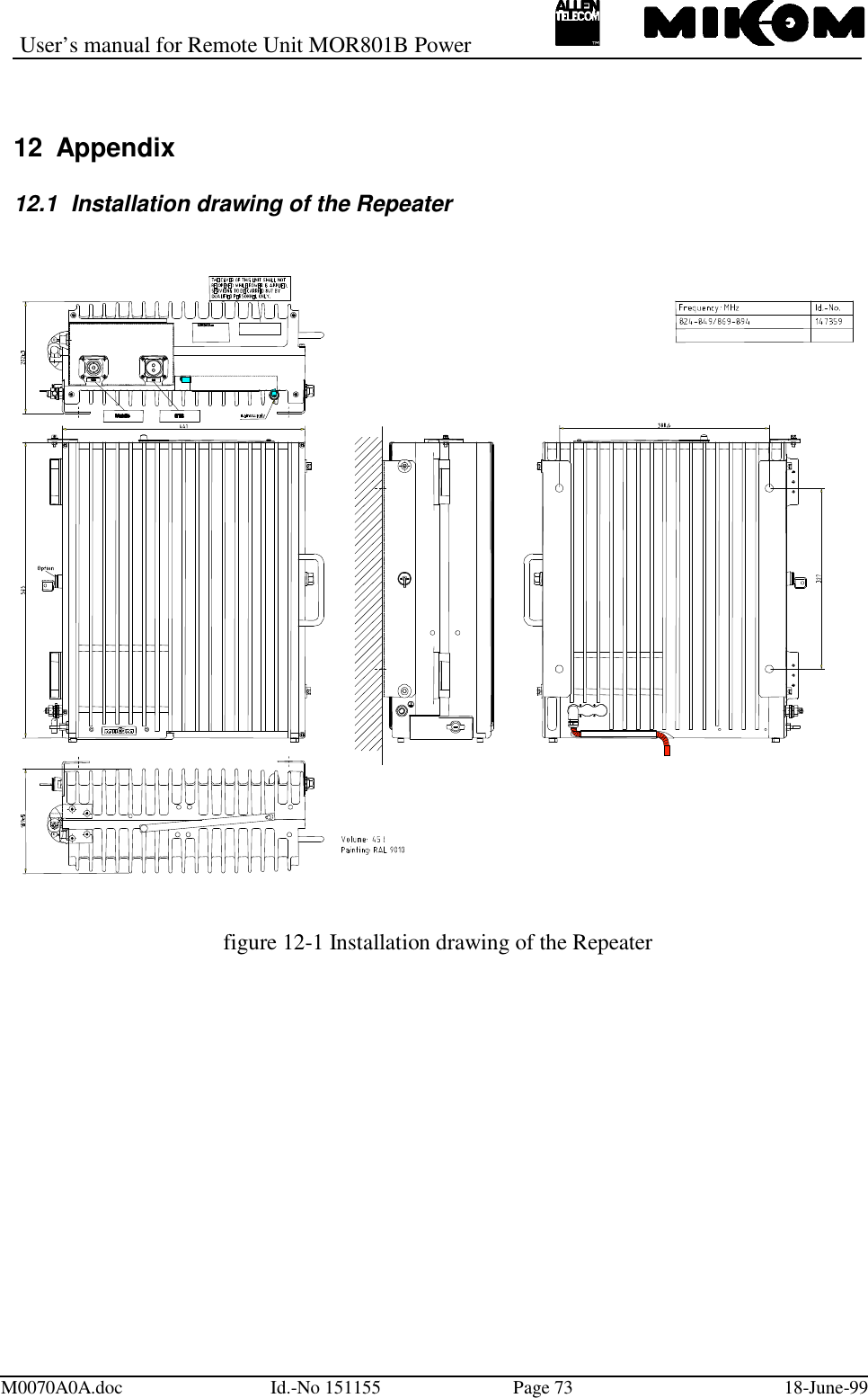 Andrew Wireless Innovations Group RPT-MOR801 Cellular