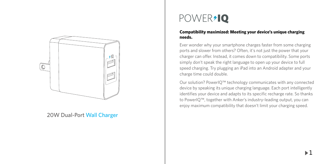 Anker Instruction Manual %2820W Wall Charger%29