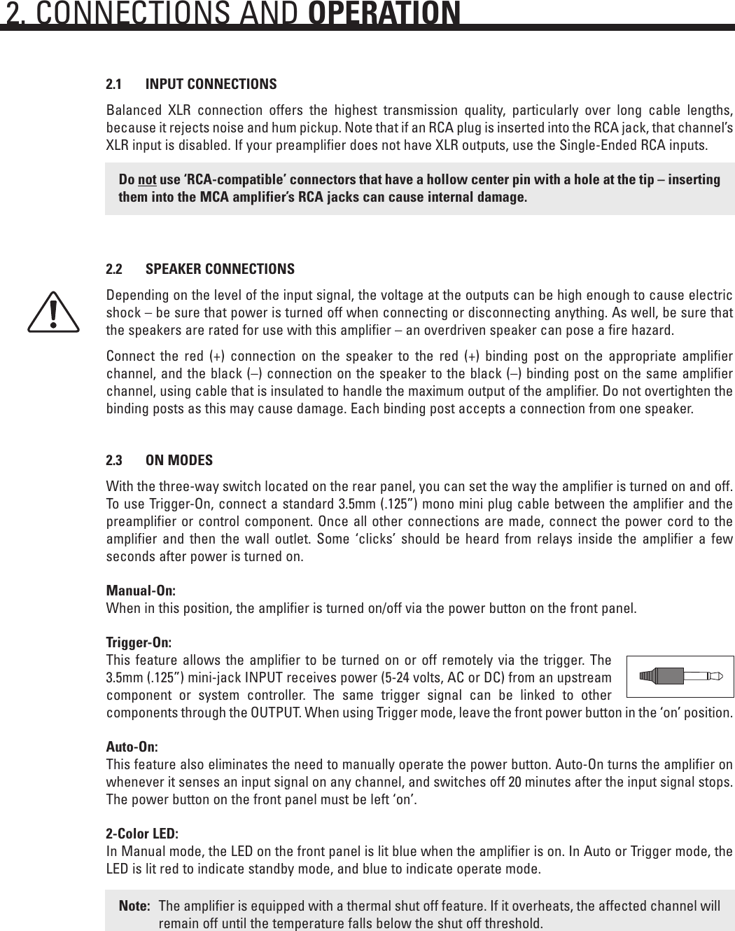 Anthem Audio Mca 20 30 50 Users Manual Schematic Balanced Xlr To Connections Page 6 Of 12