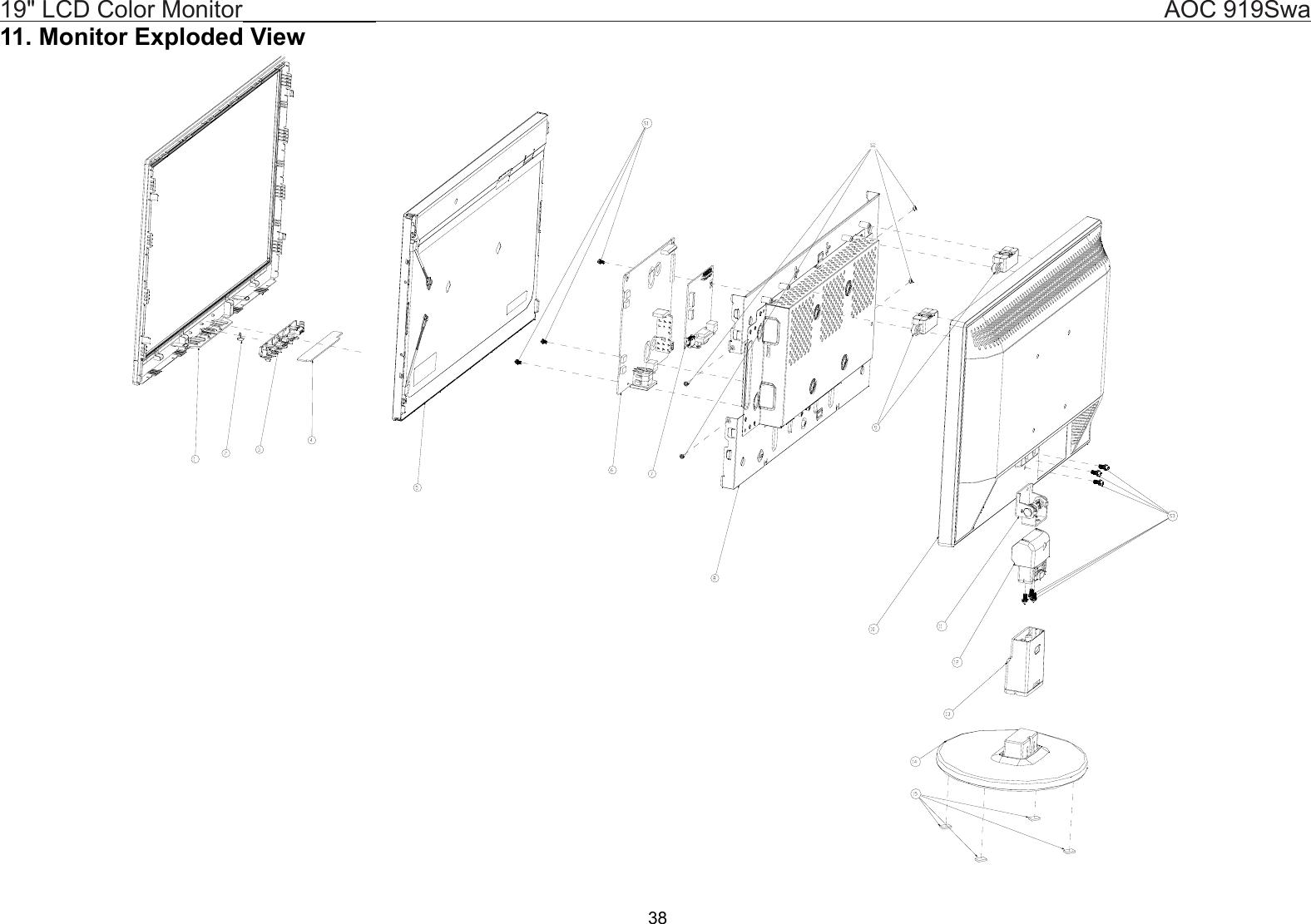 Aoc 919Swa Users Manual Monitor User Guide Operating ... on