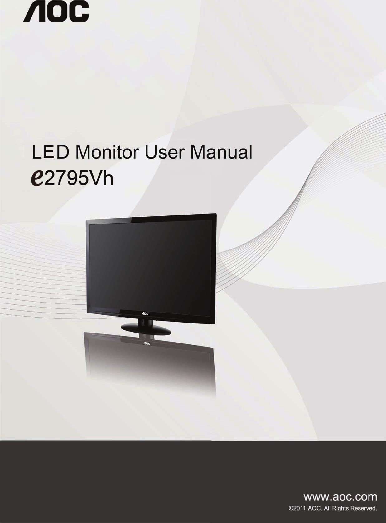 Aoc E2795Vh Users Manual Monitor User Guide Operating