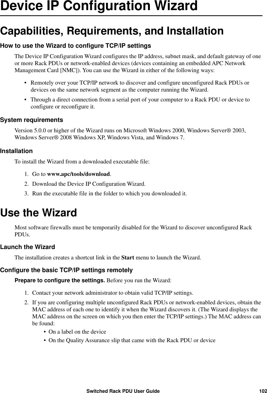 Apc Ap8941 Users Manual