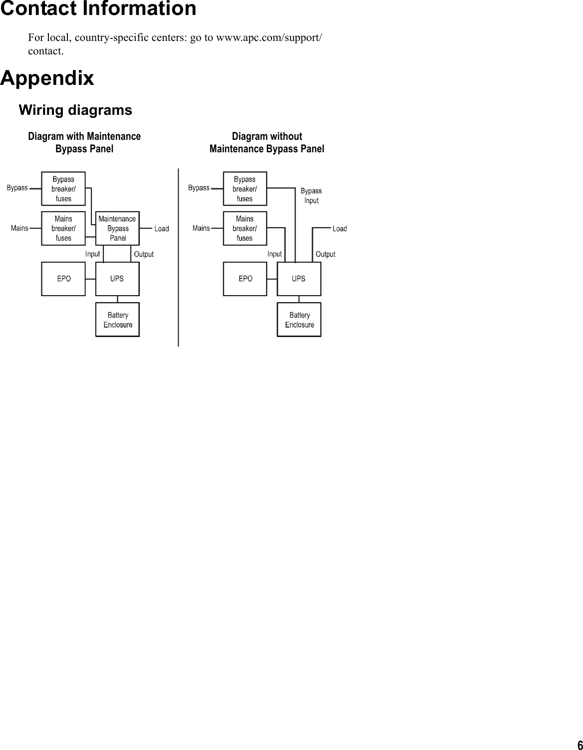 Apc Galaxy 990 2258b 001 Users Manual Ais Im 9902258 Mn02 Wiring Battery Diagram Page 6 Of