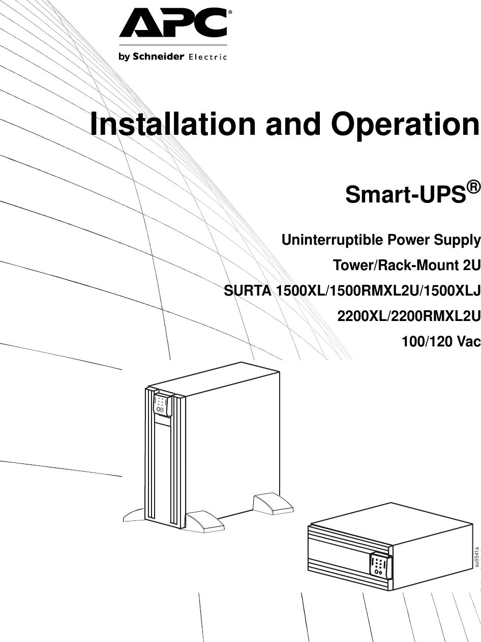 Apc Surta 1500rmxl2u Users Manual Suo Um 990 3622 Mn01 En Epo Wiring Diagram