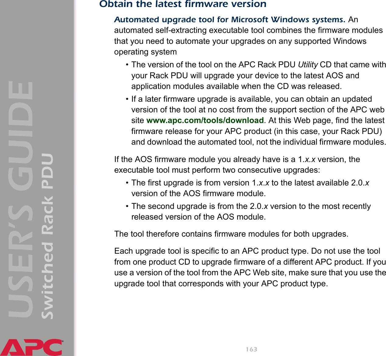 Apc Switched Pdu Ap7900 Users Manual Rack