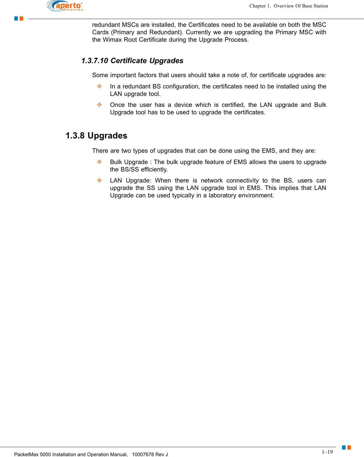 Aperto Networks PM365-BS WiMAX Base Station User Manual PM 5000 12