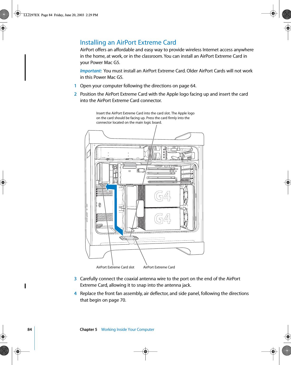 Internet Antenna Wiring Diagram Wire Connector Tv Wifi On Apple A1026 80211 B G Wireless Lan Module User Manual Installation