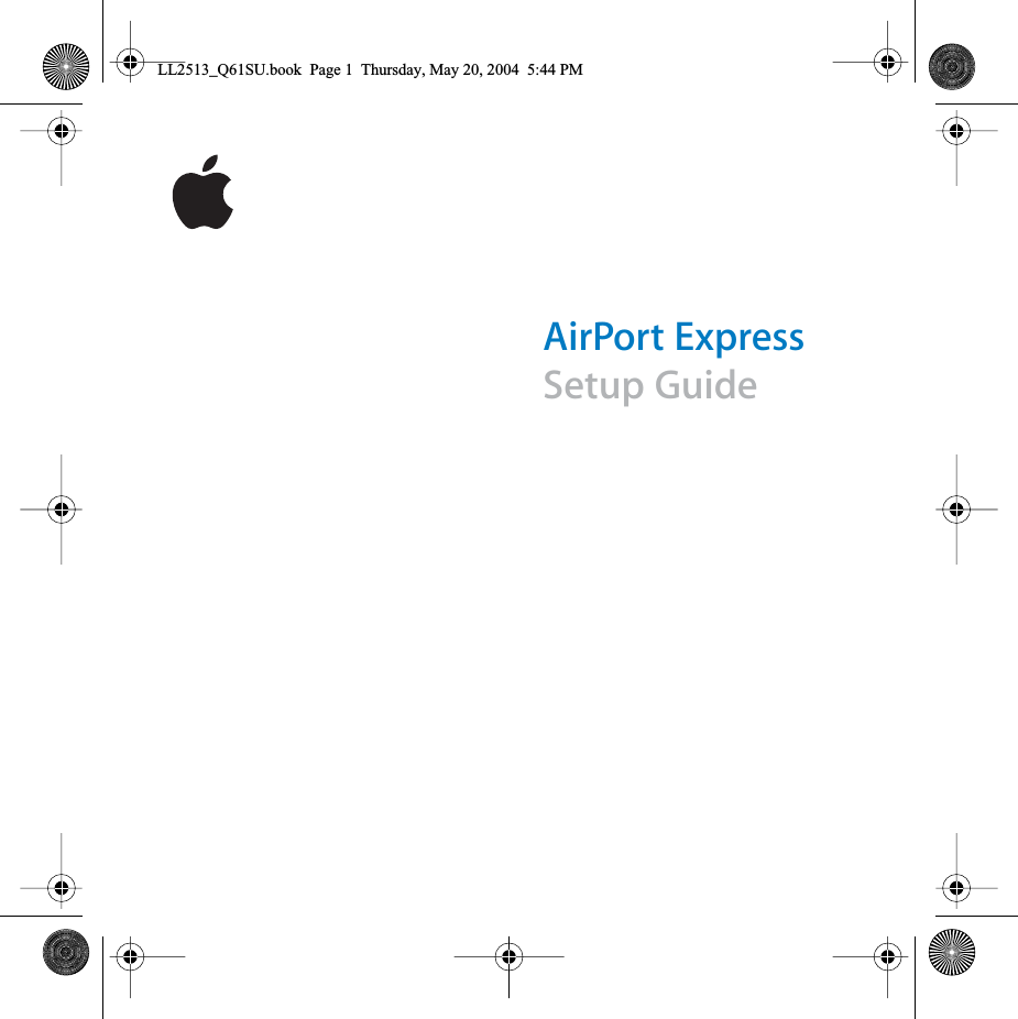 Apple A1084 Airport Express Base Station User Manual Ll2513 Q61su