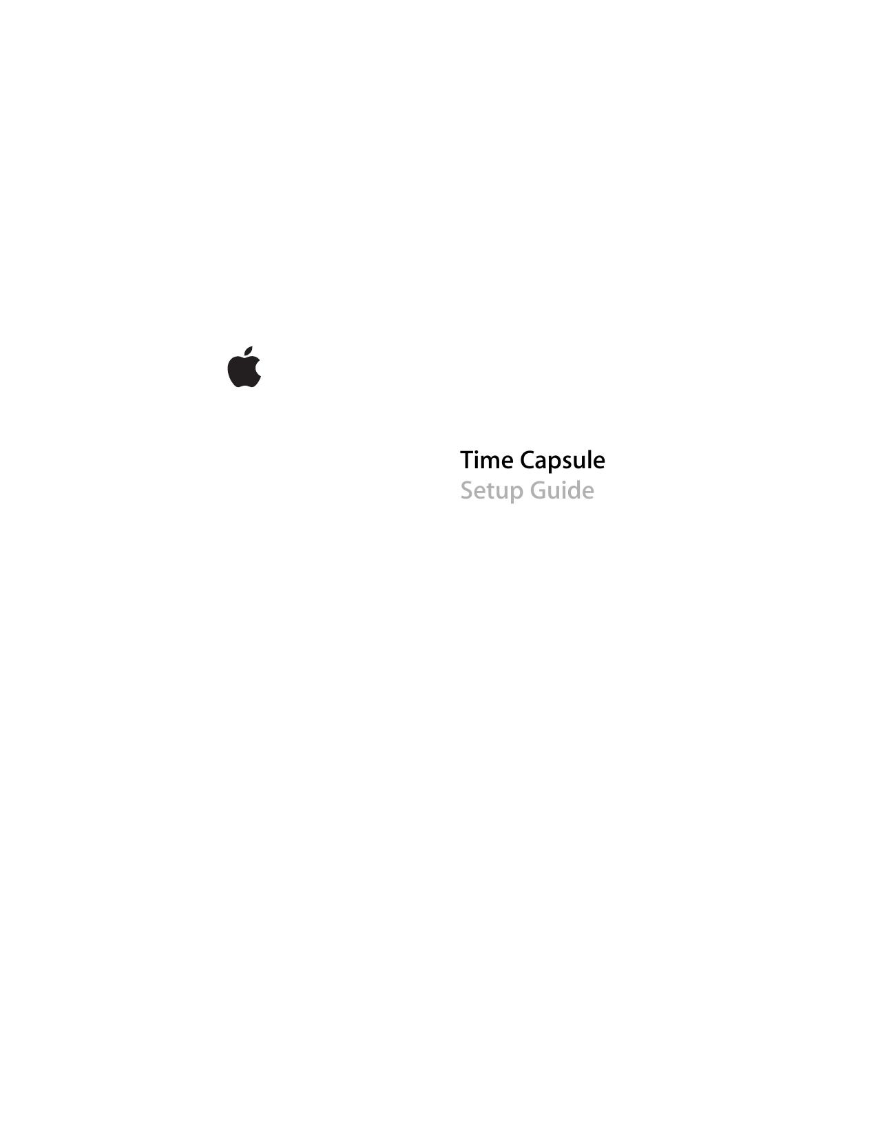 Time Capsule Setup Guide