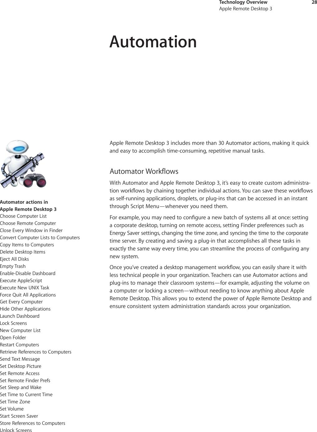 Apple AppleRemoteDesktop3 X Remote Desktop 3 Technical