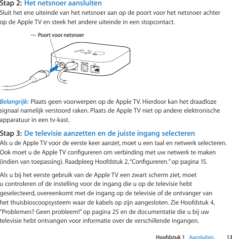 Apple Tv 2e Generatie User Manual Installatiehandleiding