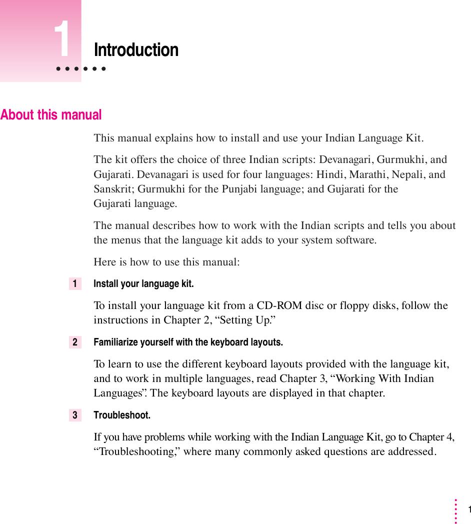 Apple Mac OS U96600025AILKUM User Manual Indian Language Kit