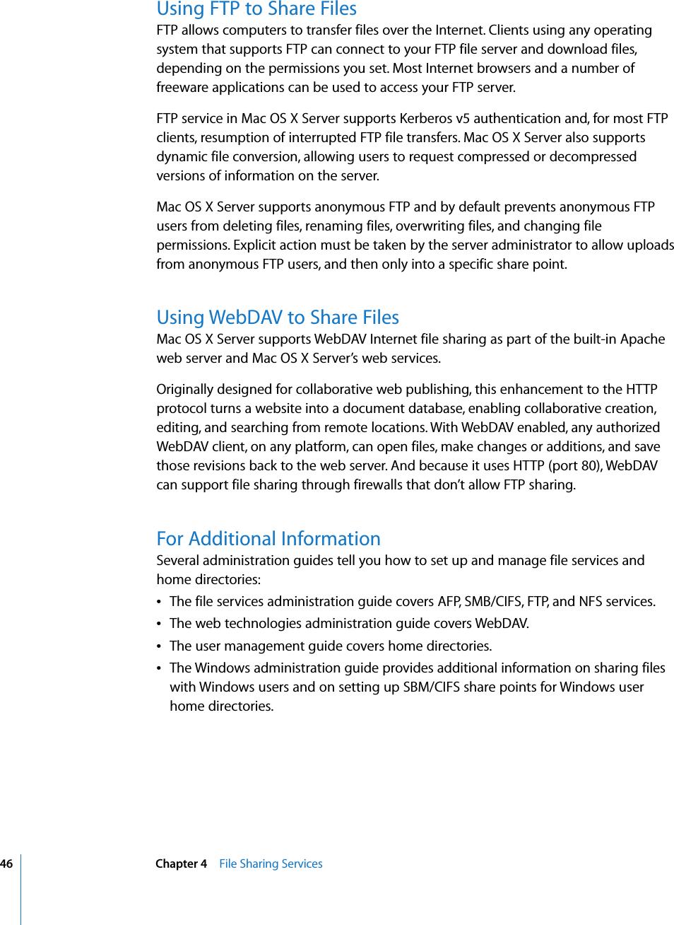 Apple MacOSXServer Mac OS X Server Collaboration Services
