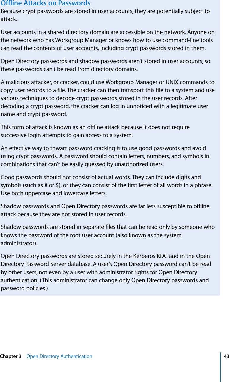 Apple Mac OS X Server Open Directory Administration User Manual V10