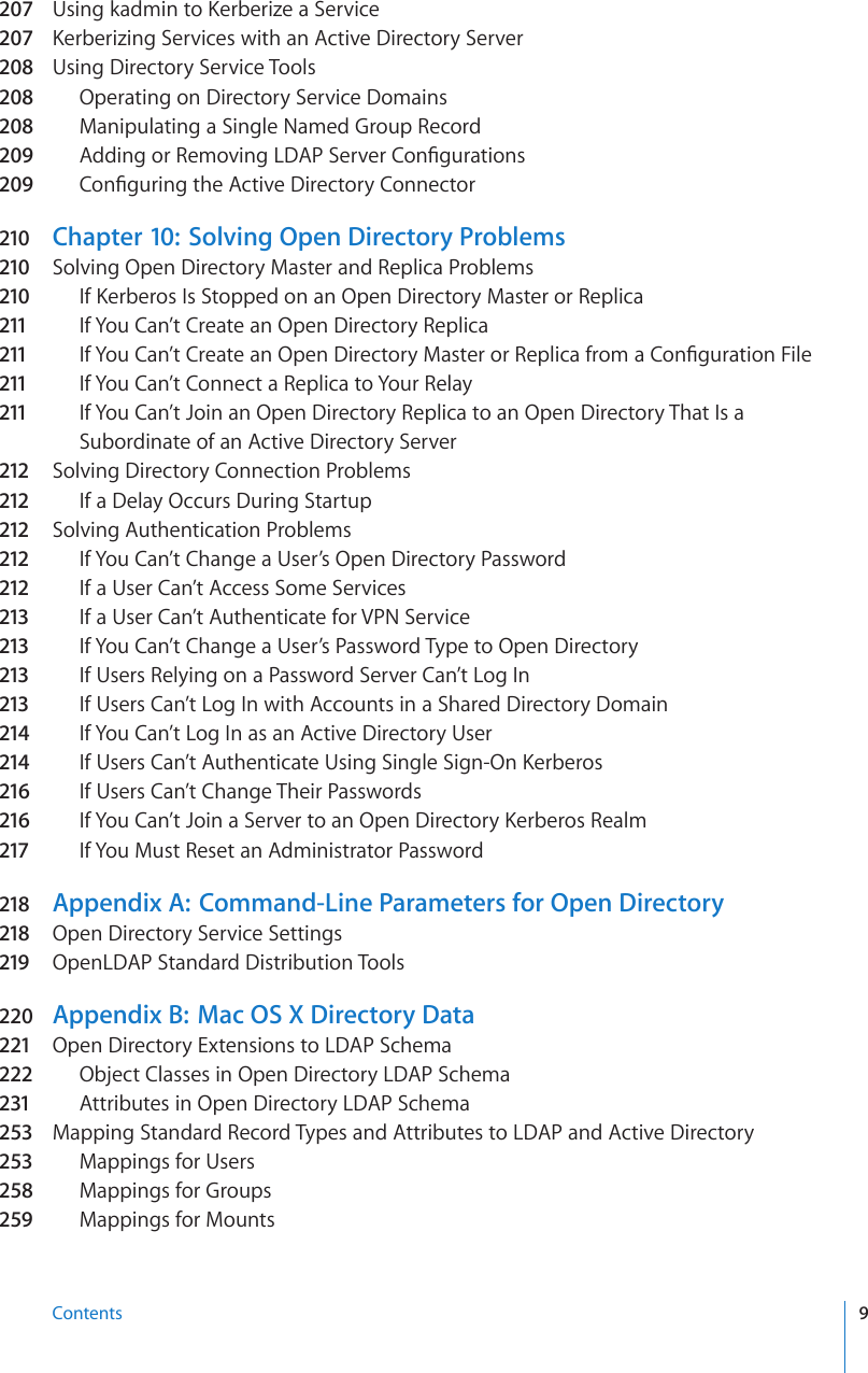 Apple Mac OS X Server (early) Open Directory Administration