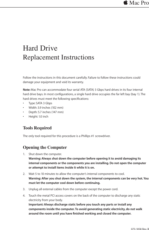 apple macpro mac pro hard drive diy replacement instructions user rh usermanual wiki Apple Mac Pro Laptop Apple Mac Pro Review