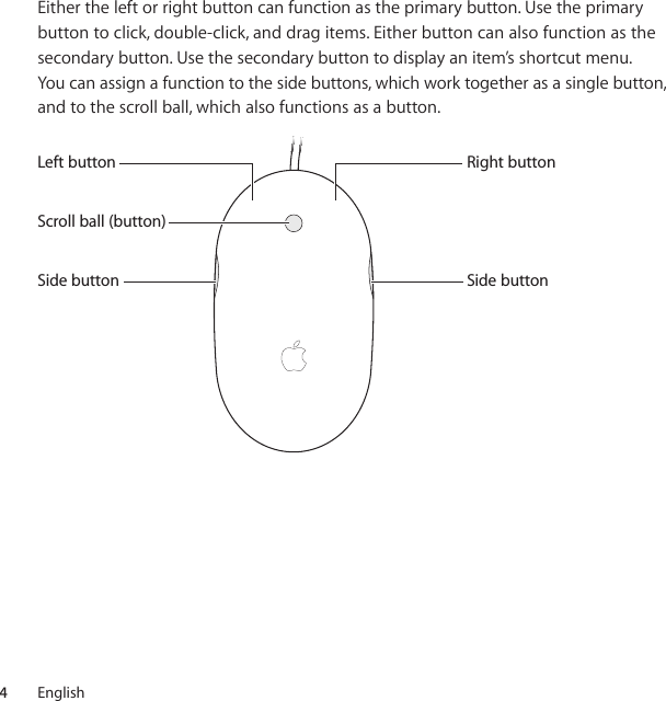 Apple Mighty Mouse User Manual Guide Za