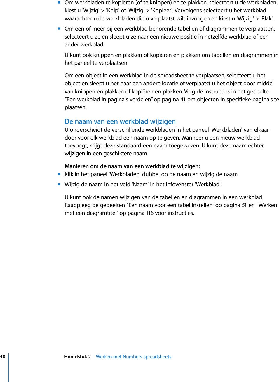 Hedendaags Apple Numbers N1277 User Manual Numbers\'08 Gebruikershandleiding GE-33