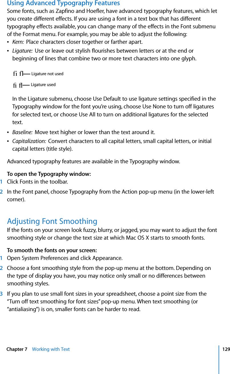 Apple Numbers '08 User's Guide User Manual \'08 Numbers08
