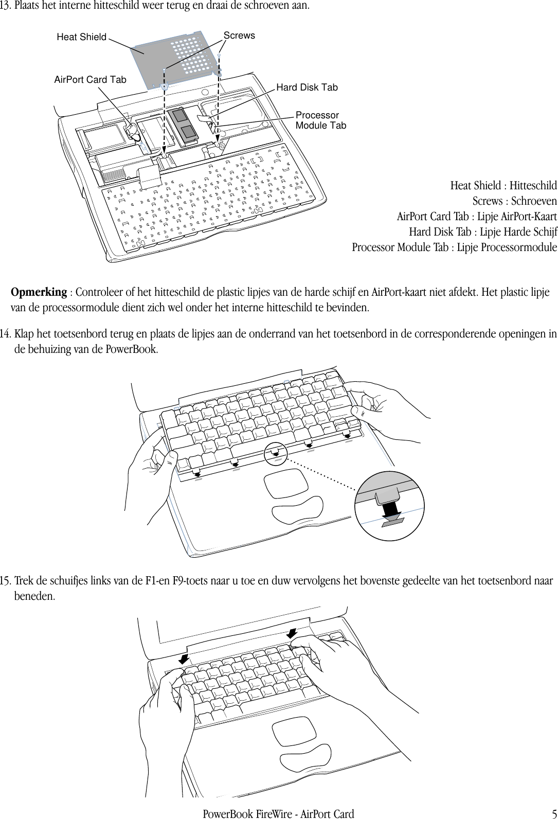 Apple Powerbookfirewire Airport Card User Manual Power Book G3 Firewire Diagram Page 5 Of 6