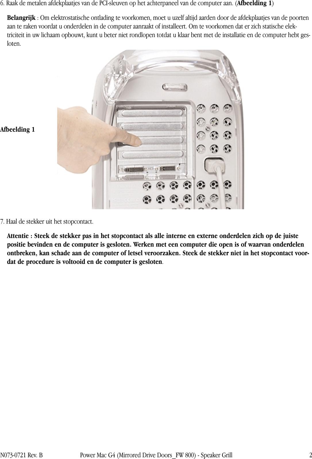 Spiegel Op Je Computer.Apple Powermacg4 Spiegel Drivedeur Speaker Grill User