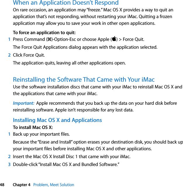 Apple IMac(20 inch,Early2008) IMac User's Guide User Manual