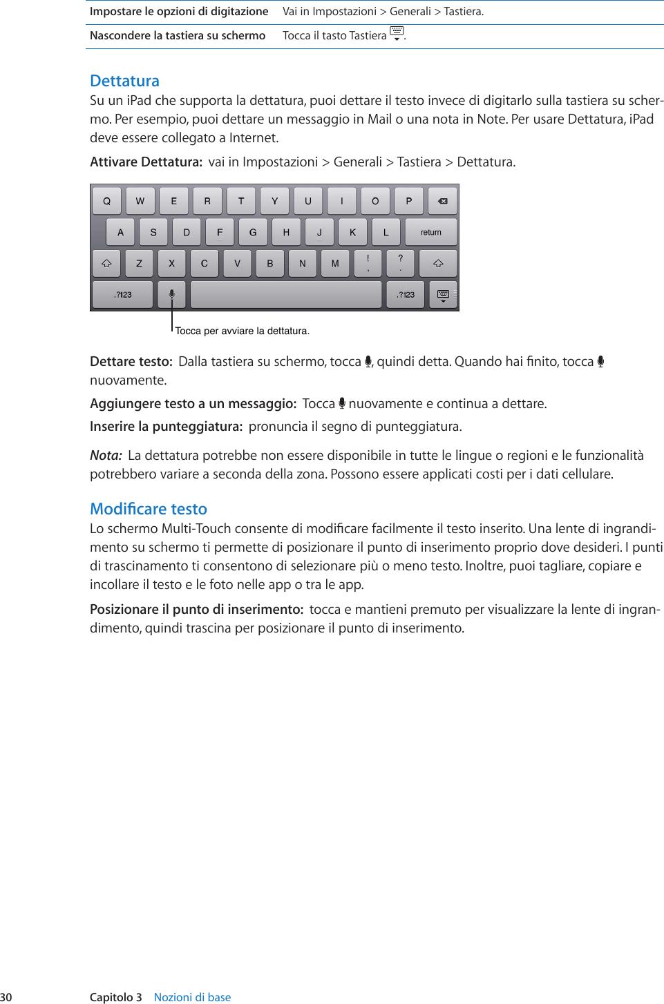 gancio della tastiera fino a iPad