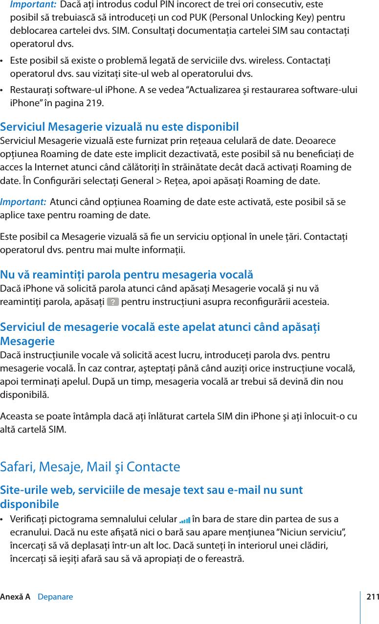Apple IPhone (original) Manual De Utilizare User I Phone