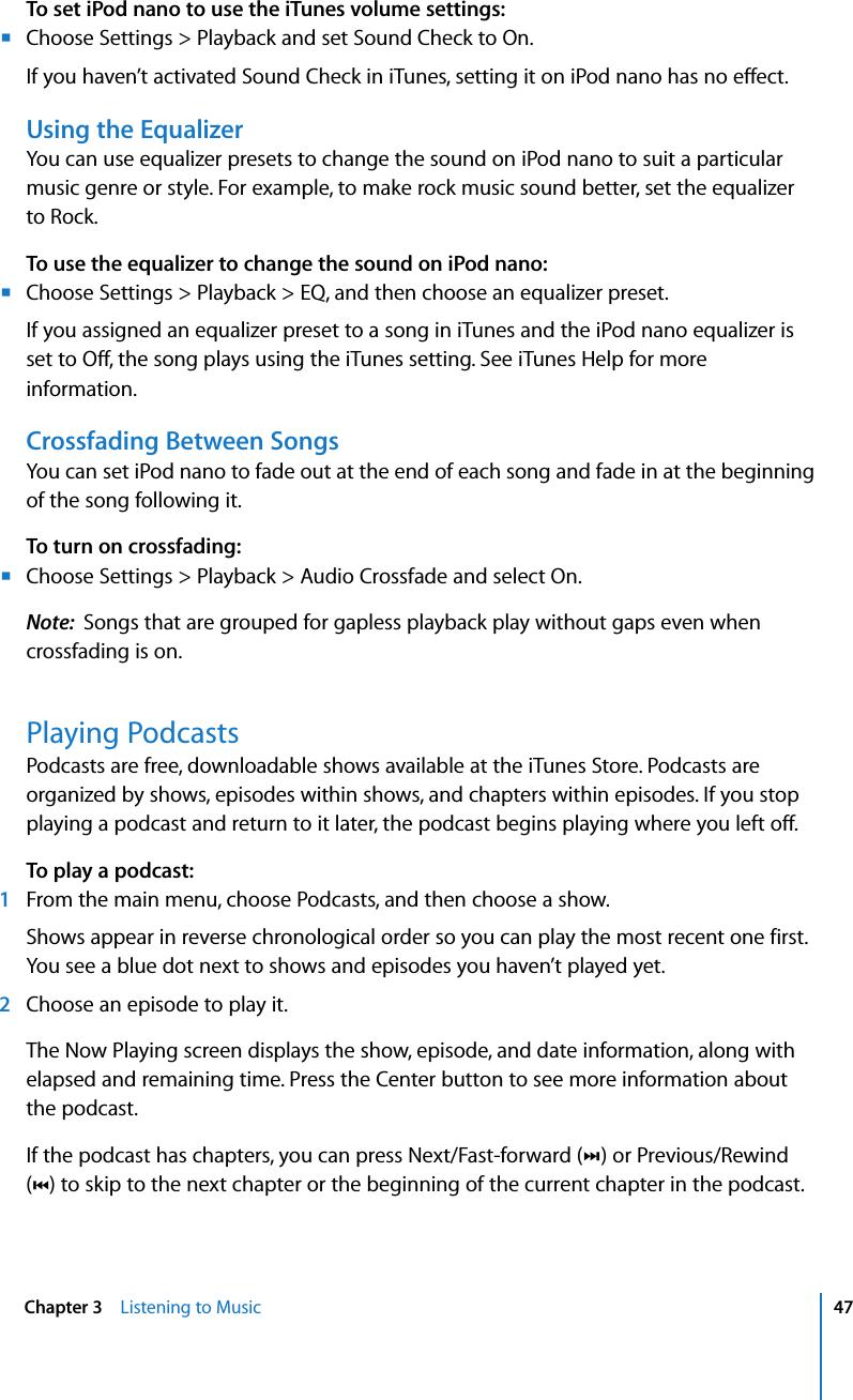 Apple IPod Nano (5th Generation) User Manual I Pod Guide 5th Gen